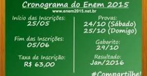 cronograma do ENEM